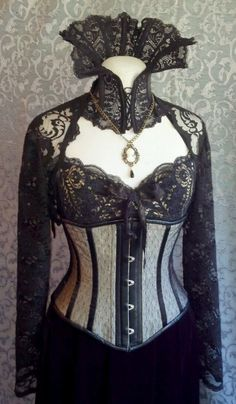 Dramatic Victorian Steampunk Gothic Vampire Corset Outfit from kvodesign on Etsy Costume Steampunk, Steampunk Clothing, Steampunk Fashion, Steampunk Hair, Gothic Clothing, Steampunk Necklace, Victorian Steampunk, Victorian Fashion, Gothic Fashion