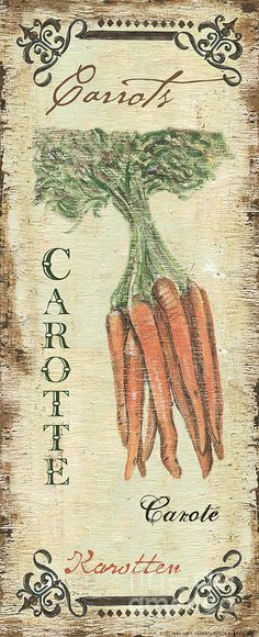 Vintage Vegetables 4 Painting  - Vintage Vegetables 4 Fine Art Print