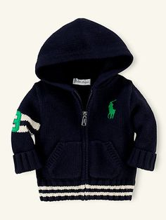 Hooded Full-Zip Cardigan - Tops & Bottoms   Layette Boy (Newborn–9M) - RalphLauren.com