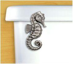 seahorse decor | accessories seahorse metal toilet handle our favorite coastal decor ...