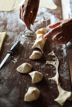 Homemade filled pasta.