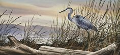 Heron Fine Art Prints Painting - Beauty Along The Shore by James Williamson