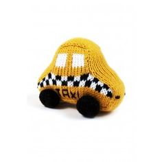 Hand-knit Taxi Rattle - Shop Baby Products Online - Estella-NYC.com