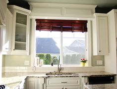 Traditional White Kitchen Photos |  WINDOW SIZE and space above sink!!!