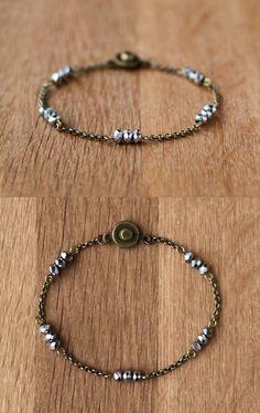 wish bracelet // stackable shimmering silver and par AWAYSAWAY, $18.00