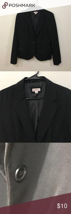 Black blazer Simple black blazer. Worn twice. One-button style with standard lapel. Merona Jackets & Coats Blazers