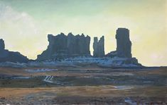 Monument Valley - acrylic on dry paper - - by Laurent Goenvec . Western Landscape, Trees To Plant, Monument Valley, Colonial, Westerns, American, Paper, Illustration, Nature