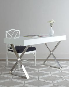 """Channing"" Desk by Jonathan Adler at Neiman Marcus."