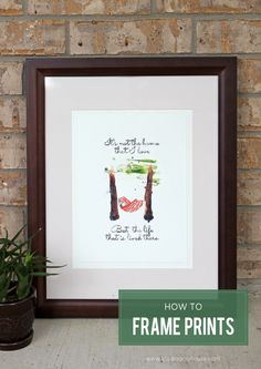 Use this technique to frame prints straight from your home printer to achieve an expensive art look on a limited budget. Plus, free artwork download.