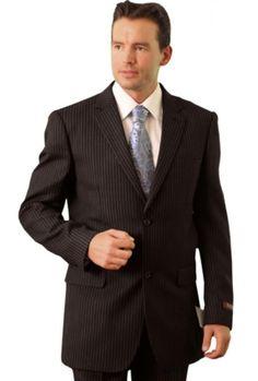 Trueran-Viscose Men's Black Classic affordable suit online sale ...