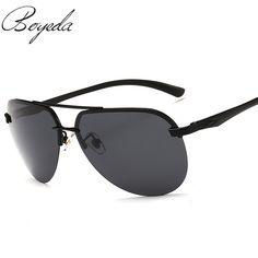 3e8563d824c Men Luxury Brand Design Men Polarized Driver Sunglass Fashion Sunglasses  Oculos Rimless Holiday Travel Sun Glasses Eyewear
