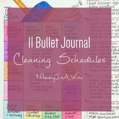 Bullet journal cleaning schedules will keep you on track with keeping your house clean and organized. Never forget changing a furnace filter again.