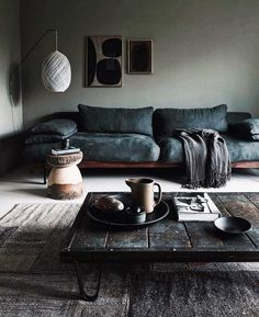 48 Unique Living Room Decor Ideas For Home Design - Many Americans are downsizing their homes due to the bad economy. This presents new design challenges to people who may not be used to living in small. Cozy Living Rooms, Living Room Grey, Living Room Sofa, Living Room Interior, Living Room Furniture, Living Room Decor, Apartment Living, Apartment Interior, Morden Living Room