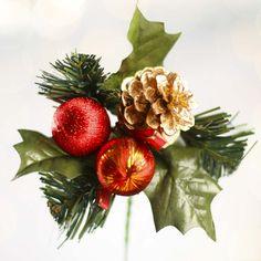 Festive Christmas Artificial Pine Pick