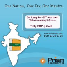 Be prepared for GST with Tally ERP-9. For more info visit:https://goo.gl/JnQzlJ