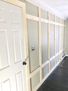 DIY Board and Batten Wall molding DIY Board and Batten Wall - Cotton & Twine Home Design Home Design Diy, Diy Home Decor, House Design, Interior Design, Wall Design, Wall Molding, Crown Moulding Diy, Wainscoting Nursery, Painted Wainscoting