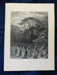 Gustave Dore  Vintage Black and White by FunFloridaVintage on Etsy
