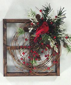 Your place to buy and sell all things handmade Crooked Tree Creations Christmas Frames, Noel Christmas, Primitive Christmas, Rustic Christmas, Christmas Ornaments, Christmas Cactus, Christmas 2019, Decoration Christmas, Xmas Decorations
