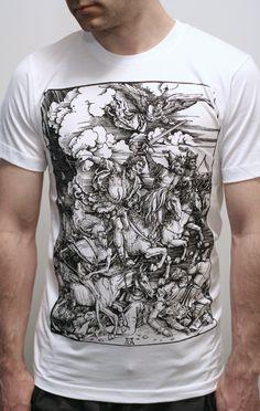 Albrecht Durer - Four Horsemen of the Apocalypse - Mens t shirt / Unisex t shirt (Albrecht Durer shirt ). $23.00, via Etsy.