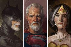 süper kahramanlar yaşlanınca http://www.boredpanda.com/old-superhero-paintings-eddie-liu/ BoredPanda