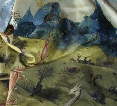 "Hieronymous Bosch´s ""Garden of delights"" printed on silk scarf."