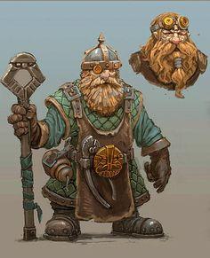Fantasy Dwarf, Fantasy Rpg, Medieval Fantasy, Fantasy Artwork, Fantasy Illustration, Character Illustration, Dnd Characters, Fantasy Characters, Character Concept
