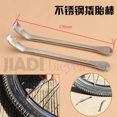 2pc bicycle Steel Tyre Pry Bar Tire Lever Opener Cycling Repair Tool Kit Accessories