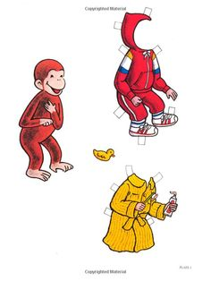 Curious George Paper Dolls (Dover Paper Dolls): H. A. Rey, Kathy Allert, Paper Dolls: 9780486243863: Amazon.com: Books