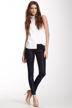 HauteLook   J Brand: Mid-Rise Faded Detail Super Skinny Jean