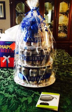 DIY Beer Birthday cake! Great for any man in your life or a 21st birthday!