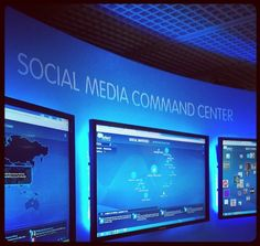 Social media command center #CannesLions Cool Electronics, Media Center, User Interface, Cannes, Monitor, Social Media, Activities, Cool Stuff, Digital