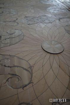 Berti wood flooring - Laser Inlays - parquet installed in a prestigious location. #parquetlovers #parquet