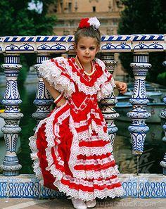 Seville Spain Feria.❇ ❇ ❇ ❇❇  ❇  ❇ ❇ ❇❇  ❇Amandas dress was just like this but purple!!