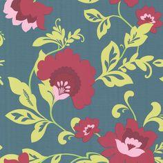 321804 Aqua Vivid Floral - Gretel - Eijffinger Wallpaper