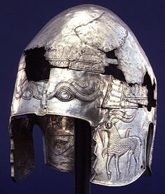 "treasures-and-beauty:"" This richly ornamented helmet was fashioned for a wealthy member of a northern Thracian tribe living near the Danube river in modern Romania or Bulgaria. The reliefs appear to refer to Thracian myths. European Tribes, Les Balkans, Objets Antiques, Corinthian Helmet, Ancient Armor, Arm Armor, Ancient Artifacts, Ancient Civilizations, Ancient History"
