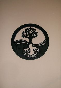 Yin Yang Tree of Life Wood Silhouette Modern Wall by Wood4Decor, $89.99