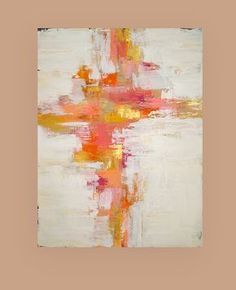 This original acrylic abstract painting is stretched on gallery wrapped canvas and will arrive ready for display. I used gorgeous shades of yellow, pink,orange, coral, taupe and white with touches of metallic gold. There is a roughed up edge with rich chocolate peeking through in spots for a weathered look and feel. Highly textured. Sides will be finished and will be signed, sealed, and wired. TITLE: Focus DIMENSIONS: 30x40x1.5 MEDIUM: Acrylics on Gallery Canvas ROOM VIEWS MAY N...