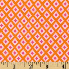 Oragami Oasis Spot Tangerine from @fabricdotcom  Designed by Tamara Kate for Michael Miller, this cotton print is perfect for quilting, apparel and home decor accents.  Colors include magenta, pink and orange.
