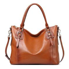 online shopping for Olivia Women's Vintage Soft Genuine Leather Tote Large Shoulder Bag Outside Side Zipper Pocket from top store. See new offer for Olivia Women's Vintage Soft Genuine Leather Tote Large Shoulder Bag Outside Side Zipper Pocket Cuir Vintage, Vintage Stil, Vintage Leather, Handmade Leather, Designer Leather Handbags, Leather Purses, Designer Purses, Leather Bags, Leather Totes