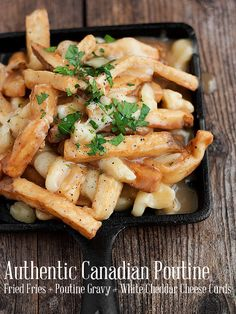 be a post about Canadian food without a recipe for the requisite traditional Canadian Poutine. It wouldn't be a post about Canadian food without a recipe for the requisite traditional Canadian Poutine. Canadian Poutine, Canadian Food, Canadian Recipes, English Recipes, French Recipes, Italian Recipes, Potato Dishes, Potato Recipes, Food Dishes