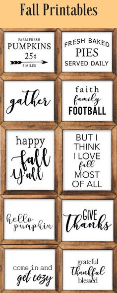 Fall Printable, DIY gifts, throw pillows, t-shirts, wall art, and more! Fall decor, rustic decor, farmhouse decor, country style, afflink