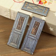 Prima - Wood Embellishments - Doors - Set 8 at Scrapbook.com $3.99