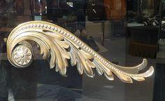 Acanthus Leaf Door Handle:  F. Pinet - New Bond Street