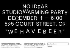 Fun One Pager announcing the No Ideas launch party (last year) where all the type collapses upon scroll.