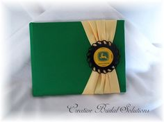 Green and Yellow John Deere Wedding Guest Book by CreativeBridal, $45.00