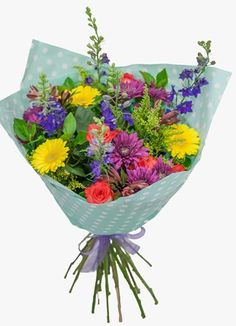 Yellow And Purple Gerbera Flower Bouquet By SA Florist Gift Delivery, Planter Pots, Flowers, Gifts, Presents, Favors, Royal Icing Flowers, Flower, Florals