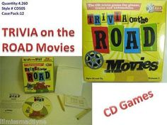 TRIVIA on the ROAD Movies CD Family Travel Game