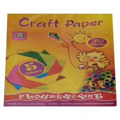 Imperial Fluorescent Craft Paper Pad 50 Sheets — Fluorescent Craft Paper, is used for labels, signage, and to produce various punched out shapes for craft and decorations.