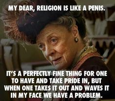 Got to love Maggie Smith.