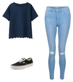 """""""CASUAL"""" by sunset14blvd ❤ liked on Polyvore featuring Uniqlo, New Look and Vans"""
